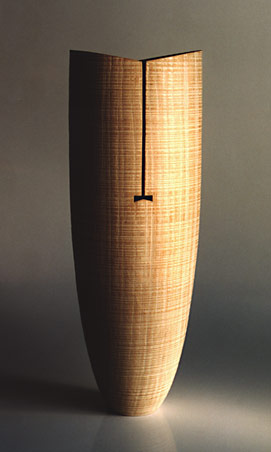 Limed English Oak vase